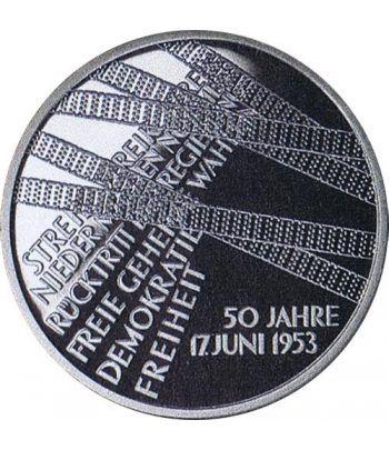 moneda Alemania 10 Euros 2003 A. 50 Años de 17 junio 1953  - 1