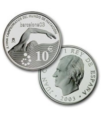 Moneda 2003 X FINA Campeonatos del Mundo de Natación. 10 euros.  - 2