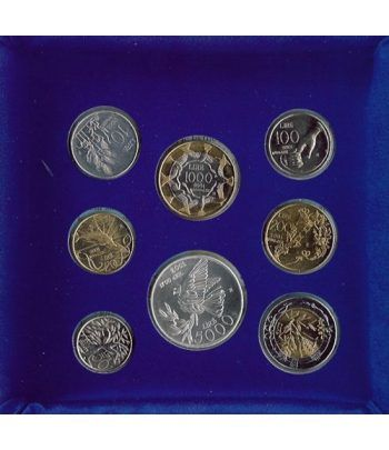 Estuche monedas San Marino 2001. Última serie de liras  - 2