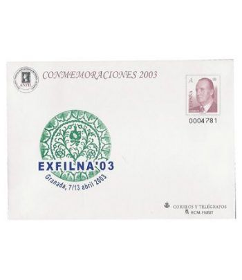 Sobre Entero Postal 084 Exfilna 2003  - 2