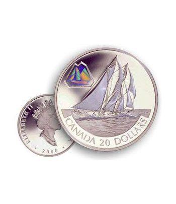 Canada 20$ (2000) Serie transportes Plata holograma (3)  - 1