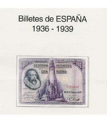 EDIFIL. Hojas billetes Alfonso XIII y II Republica (1906-1928) Album billetes - 2