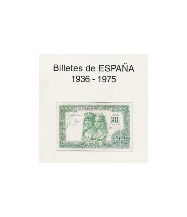 EDIFIL. Hojas billetes Estado Español (1936-1975) Album billetes - 2