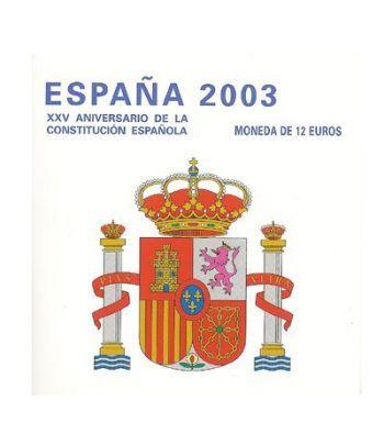 Cartera oficial euroset 12 Euros España 2003  - 4