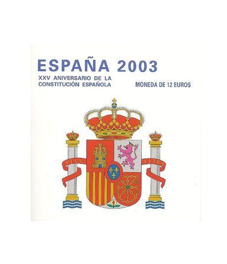 Cartera oficial euroset 12 Euros España 2003  - 1
