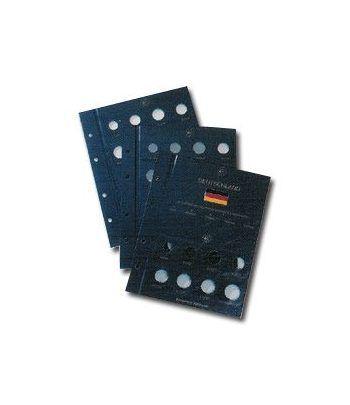 LEUCHTTURM VISTA 3 Hojas Euros 5 cecas Alemania Album Monedas Euro - 2