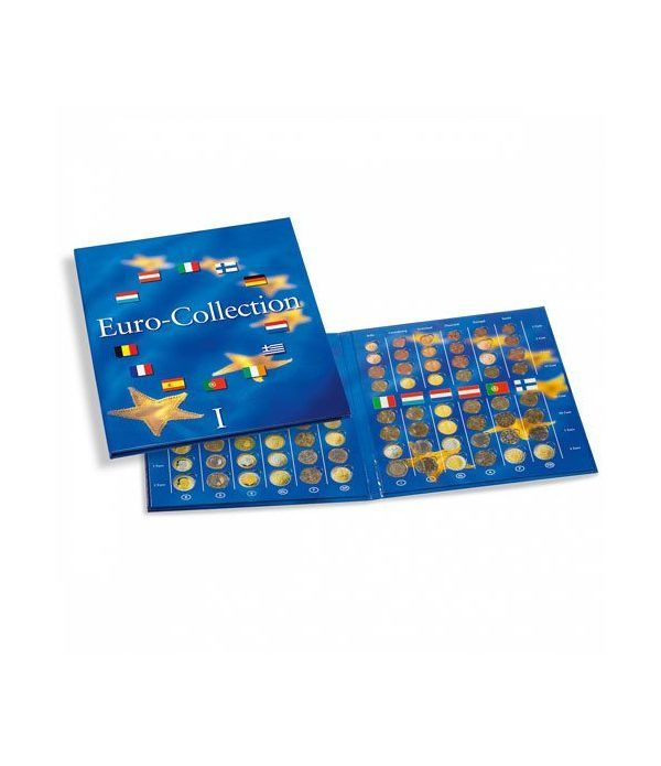 LEUCHTTURM PRESSO Eurocollection I. Carpeta 12 países. Album Monedas Euro - 1