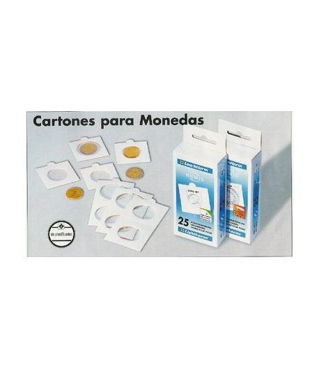 LEUCHTTURM 25 cartones adhesivos monedas 27.5 mm. Cartones Monedas - 2