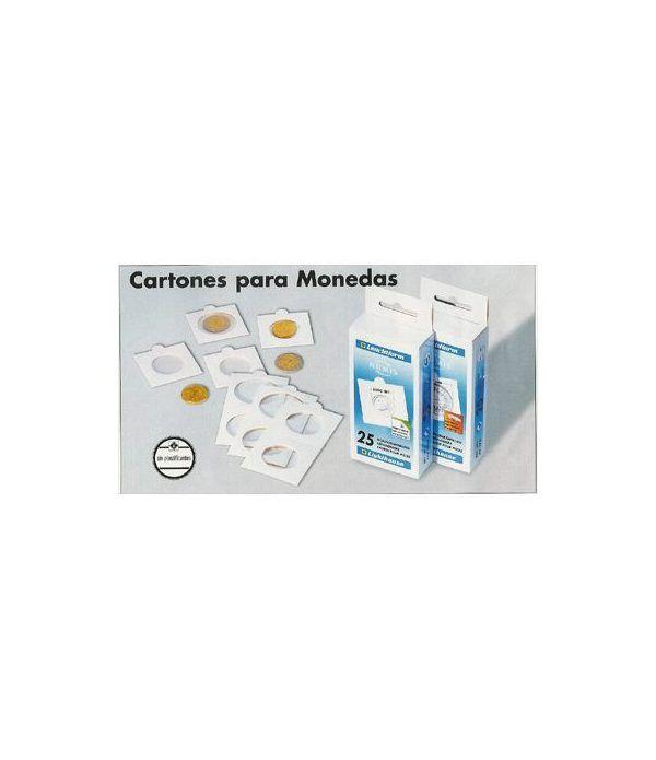 LEUCHTTURM 25 cartones adhesivos monedas 30 mm. Cartones Monedas - 2