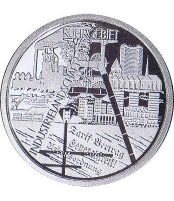 moneda Alemania 10 Euros 2003 F. Región del Ruhr  - 2