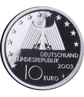 moneda Alemania 10 Euros 2003 F. Región del Ruhr  - 4