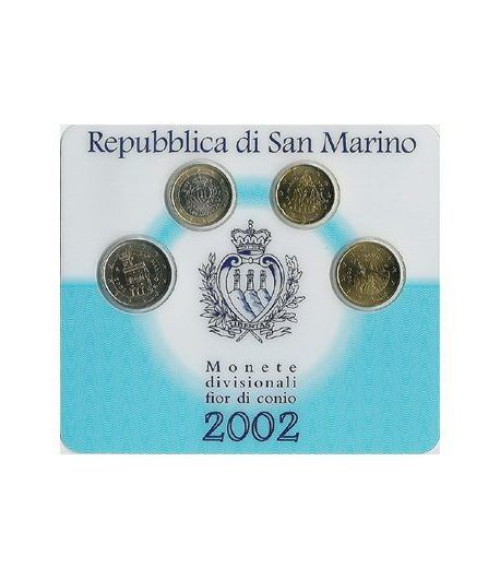 Cartera oficial euroset San Marino 2002 (4 monedas)  - 2