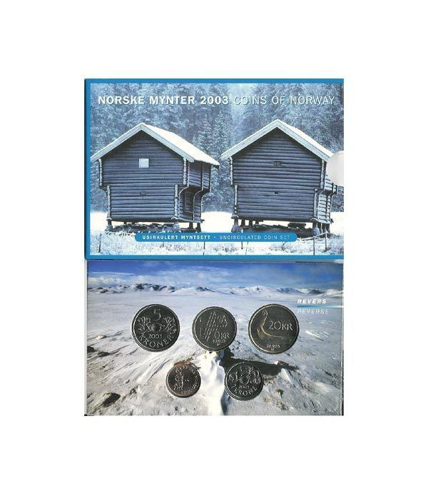 Estuche monedas Noruega 2003  - 2