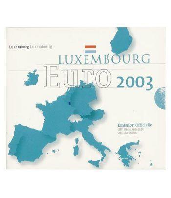 Cartera oficial euroset Luxemburgo 2003  - 2