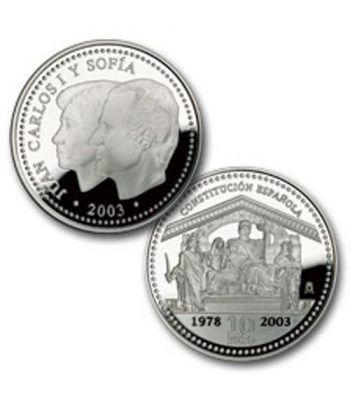 Moneda 2003 25º Aniversario de la Constitución. 10 euros. Plata.  - 2