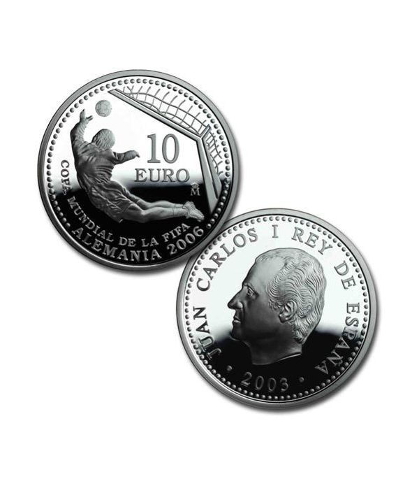 Moneda 2003 Mundial de la FIFA Alemania 2006. 10 euros. Plata.  - 2