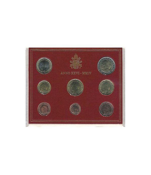 Cartera oficial euroset Vaticano 2004  - 2