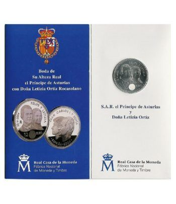 Cartera oficial euroset 12 Euros España 2004 (Boda)  - 1