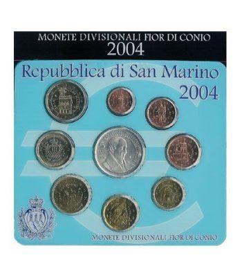 Cartera oficial euroset San Marino 2004 + 5€ (plata)  - 2