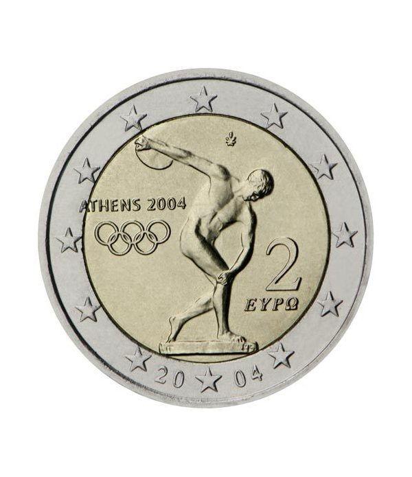 moneda conmemorativa 2 euros Grecia 2004 (JJOO).  - 2