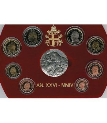 Cartera oficial euroset Vaticano 2004 (Proof)  - 2