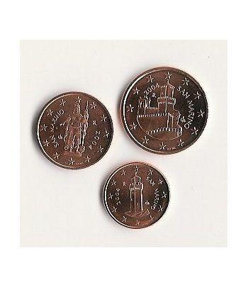 monedas euro serie San Marino (monedas 1, 2 y 5 céntimos)  - 2