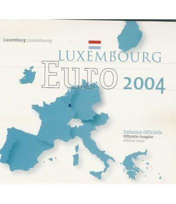 Cartera oficial euroset Luxemburgo 2004  - 2