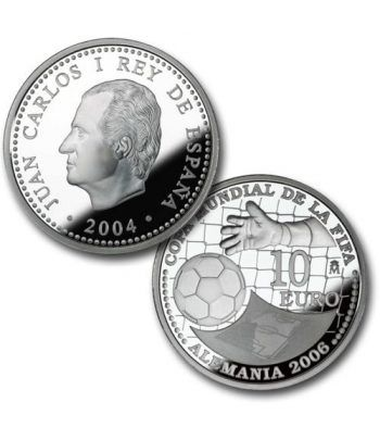 Moneda 2004 Copa Mundial FIFA Alemania 2006 2ª 10 euros. Plata.  - 2