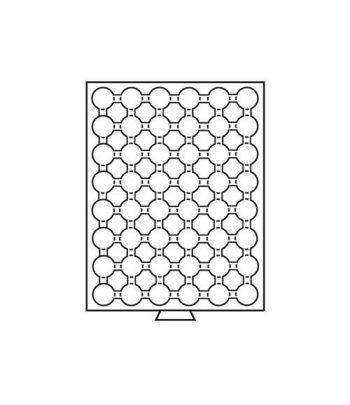 LEUCHTTURM Bandejas MB (236x303) 48 monedas CAPS 20-21.5 Bandeja Monedas - 1
