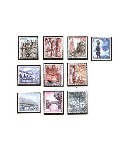 1643/52 Serie turística  - 2