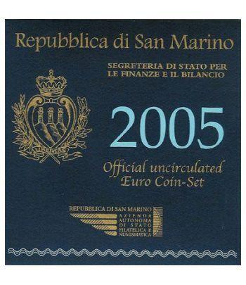 Cartera oficial euroset San Marino 2005 + 5€ (plata)  - 2