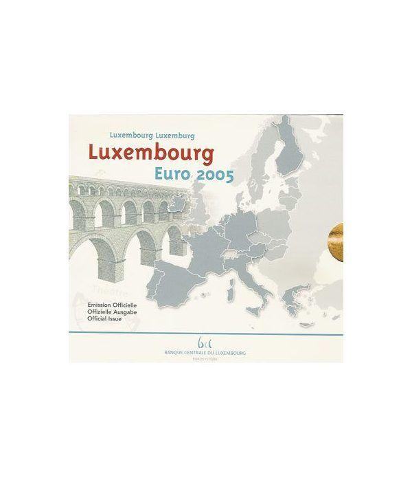 Cartera oficial euroset Luxemburgo 2005  - 2