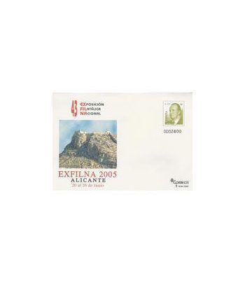 2005 EXFILNA. Sobre Entero Postal Alicante  - 2