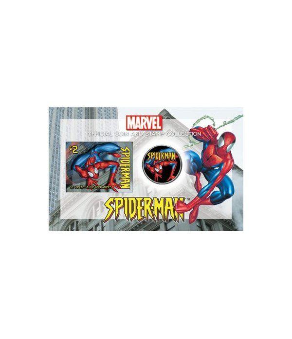 E.E.U.U. 1/2$ (2004) Spiderman + sello  - 2