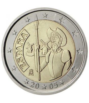 moneda conmemorativa 2 euros España 2005 Quijote.  - 2