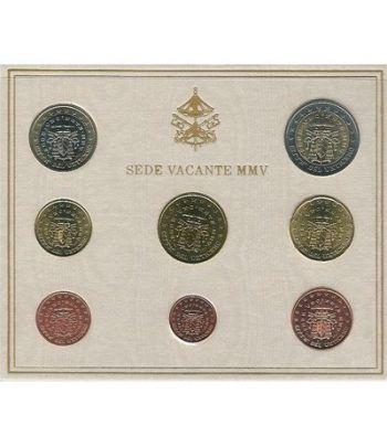 Cartera oficial euroset Vaticano 2005 Sede Vacante  - 2