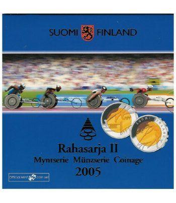 Cartera oficial euroset Finlandia 2005 2º (+ 5€ bimetálico)  - 2