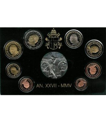 Cartera oficial euroset Vaticano 2005 (Proof)  - 2