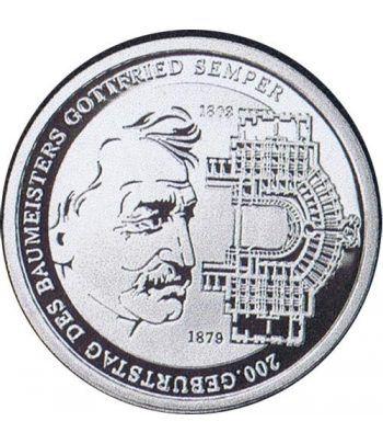 moneda Alemania 10 Euros 2003 G. Gottfried von Semper.  - 1