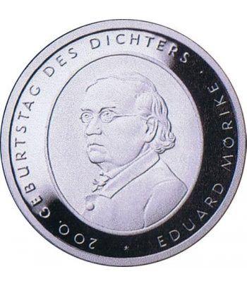 moneda Alemania 10 Euros 2004 F. Eduard Mörike.  - 1
