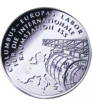 moneda Alemania 10 Euros 2004 D. Estación espacial ISS  - 1