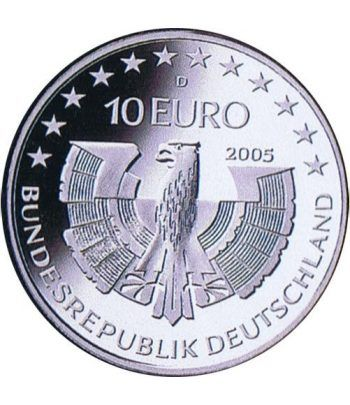 moneda Alemania 10 Euros 2005 D. Parque Selva Bávara  - 2