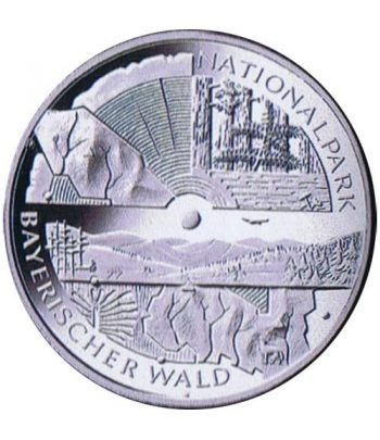 moneda Alemania 10 Euros 2005 D. Parque Selva Bávara  - 4
