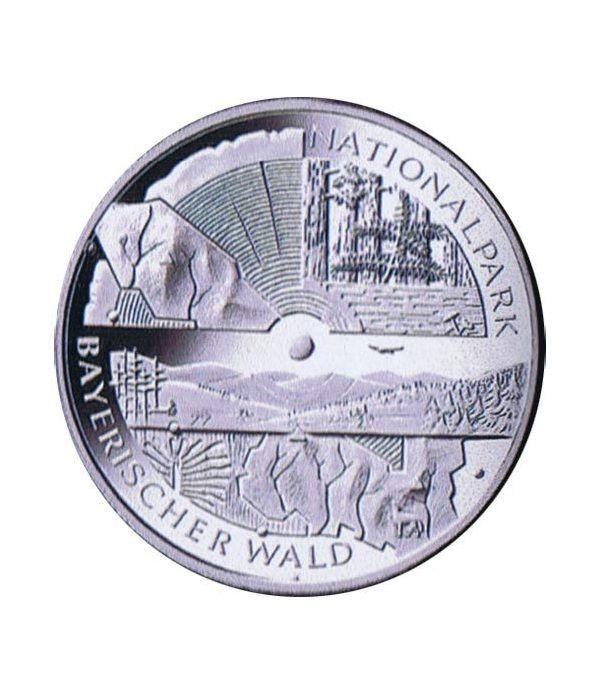 moneda Alemania 10 Euros 2005 D. Parque Selva Bávara  - 1