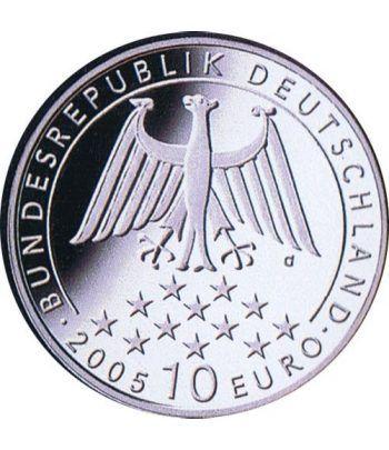 moneda Alemania 10 Euros 2005 G. Friedrich Von Schiller.  - 2