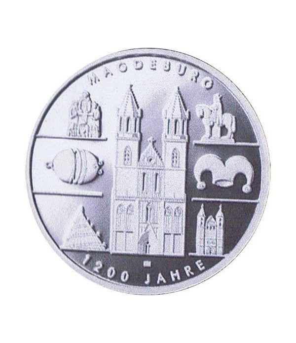 moneda Alemania 10 Euros 2005 A. Magdeburgo. Proof.  - 1