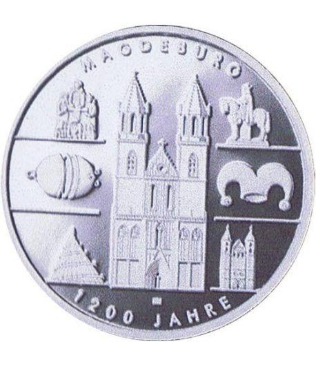 moneda Alemania 10 Euros 2005 A. Magdeburgo. Proof.  - 1