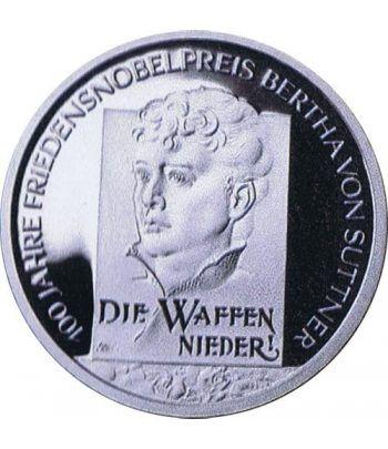 moneda Alemania 10 Euros 2005 F. Bertha von Suttner  - 1
