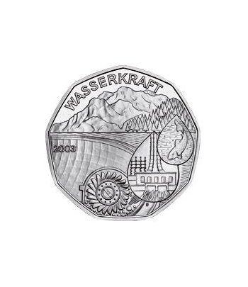moneda Austria 5 Euros 2003 (nueve esquinas) Año del Agua  - 2