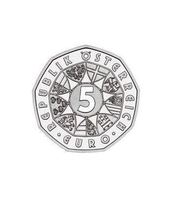 moneda Austria 5 Euros 2003 (nueve esquinas) Año del Agua  - 4